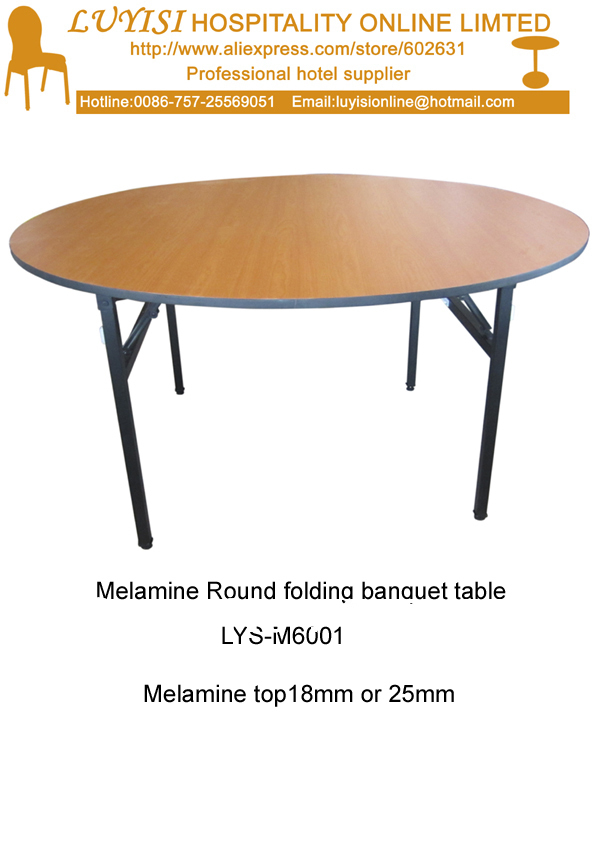 """48""""D x 30""""H mm Folding banquet round table,Melamine top 18mm or 25mm,steel folding leg,2pcs/carton,fast delivery(China (Mainland))"""