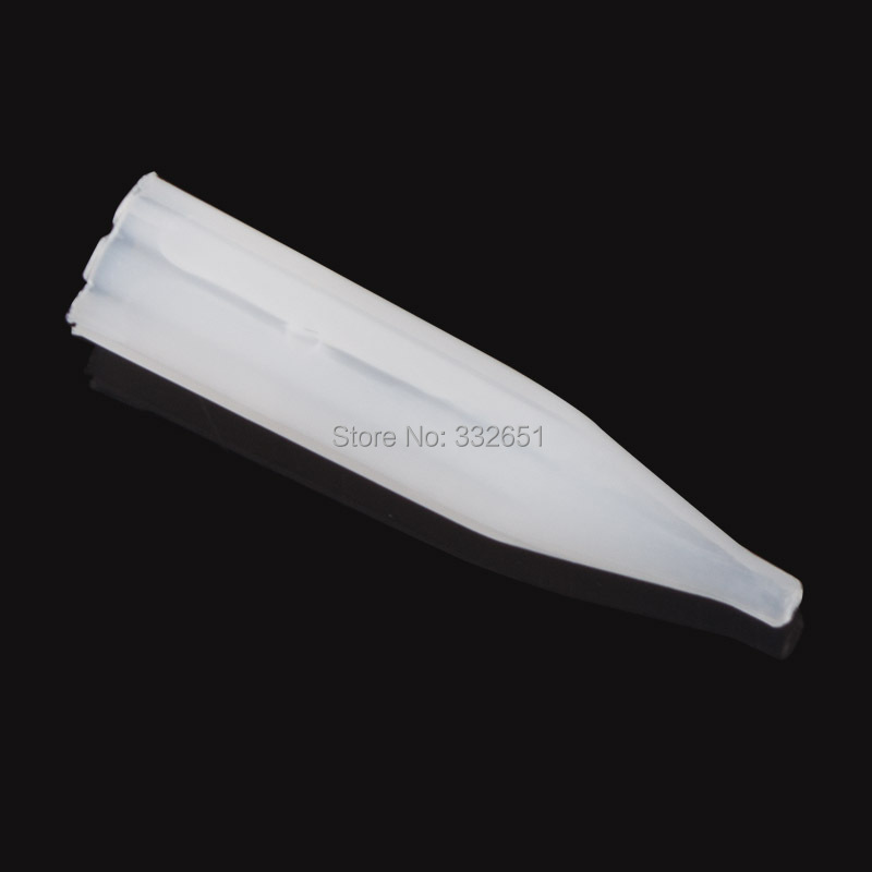 100pcs/pack 1RL Pre-sterilized Disposable Permanent Makeup Plastic Tattoo Tips Makeup Machine Kits Supply Free Shipping