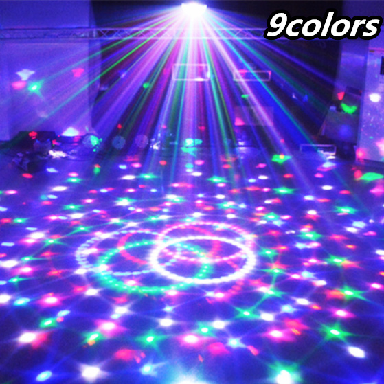 9 Colors 27W Crystal Magic Ball Led Stage Lamp 21Modes Disco Laser Light Party Lights Sound Control Christmas Laser Projector(China (Mainland))