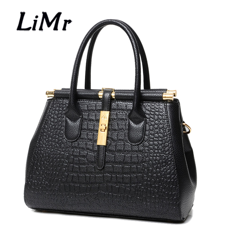 LiMr New Crocodile Bags Fashion PU Leather Women Handbags Solid Alligator Leather Shoulder Bags for Ladies Winter Messenge Bags<br><br>Aliexpress