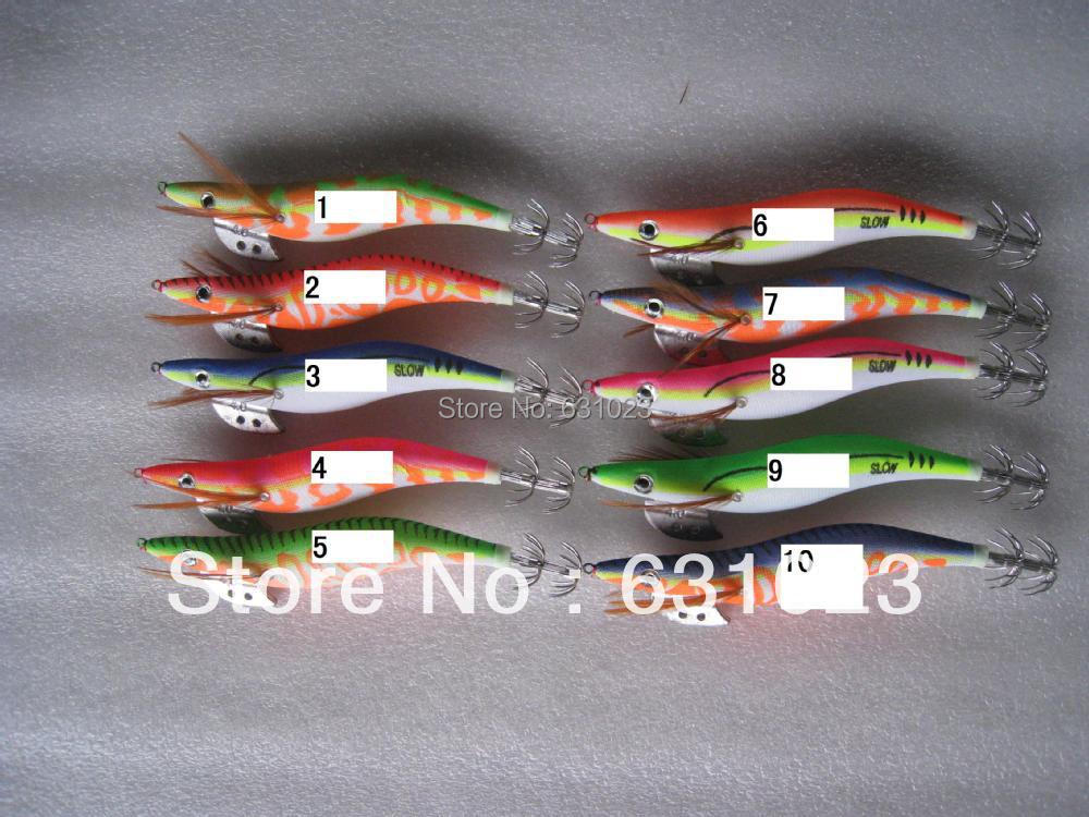 10pcsfishing lure squid jigs the bionic shrimp glow in for Glow in the dark fishing lures