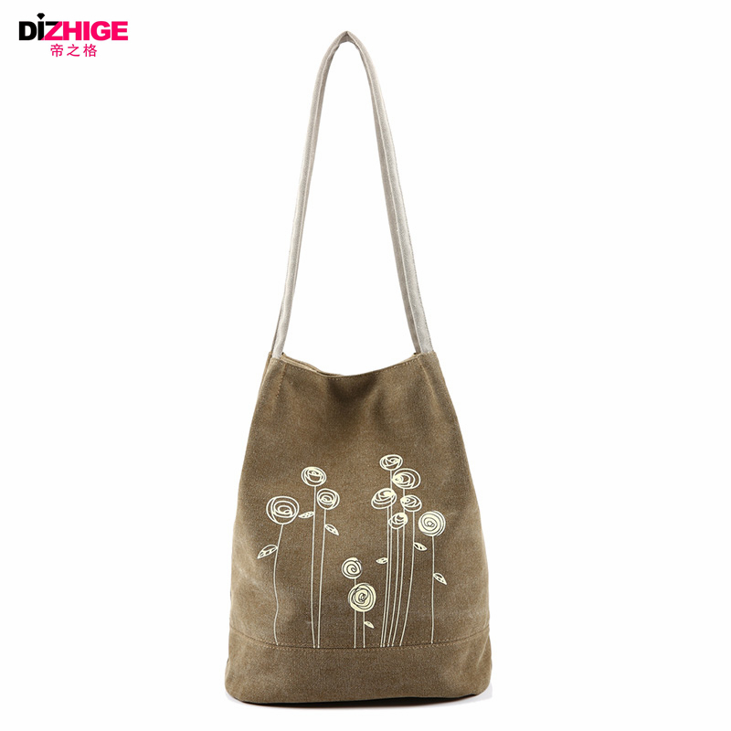 Spring And Summer Shoulder Bag Canvas Women Handbags Bucket Ladies Hand Bags Casual Big Female Floral Tote Bag For Ipad Bolsos(China (Mainland))