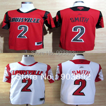 Ncaa Louisville Cardinals #2 Russ Smith white/ red college basketball jerseys mix order free shipping