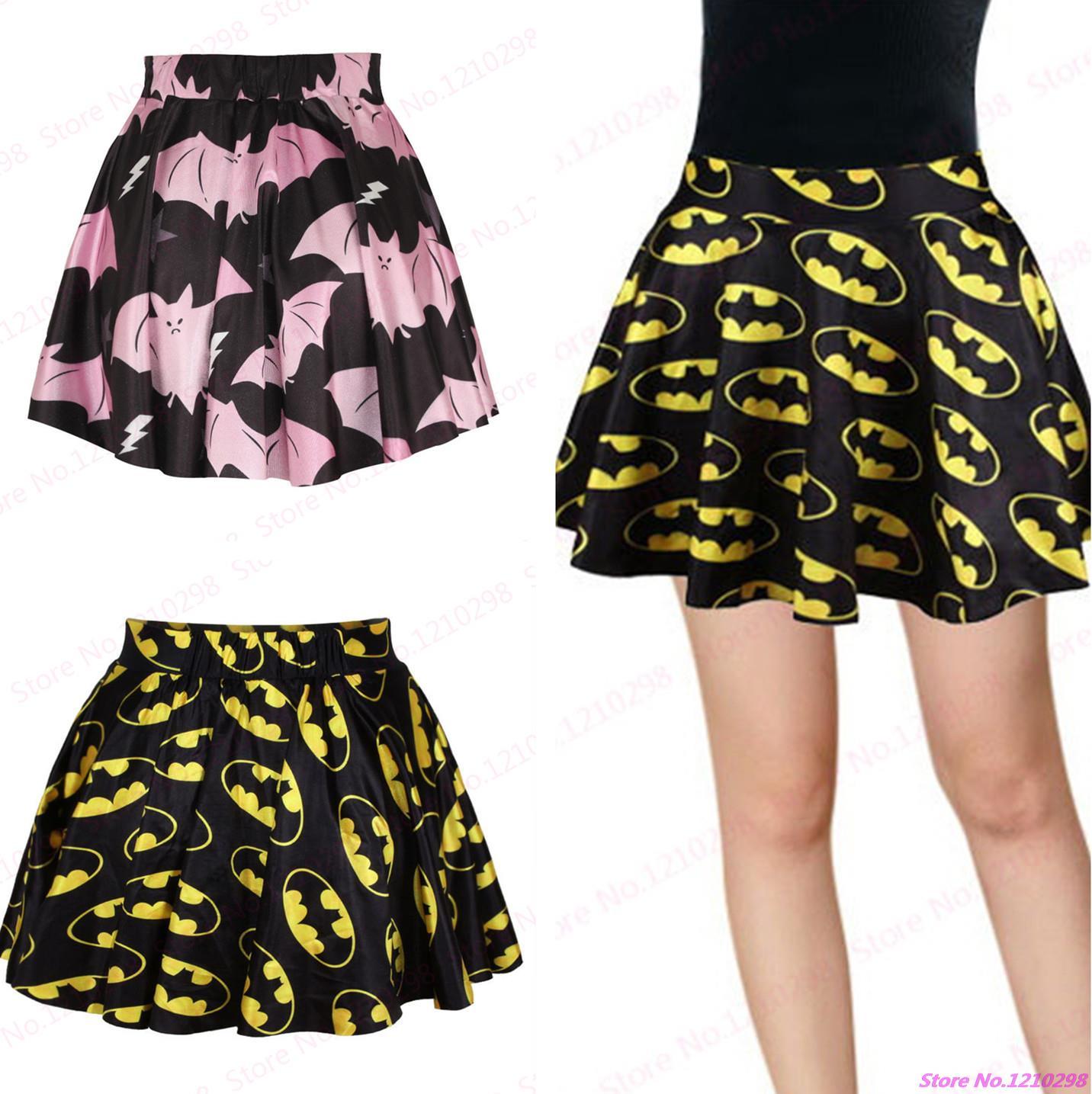 New Pettiskirt Batman Pleated Slim Fit Sports Stretch Waist Tennis Skirts A line Cool Hero Batman