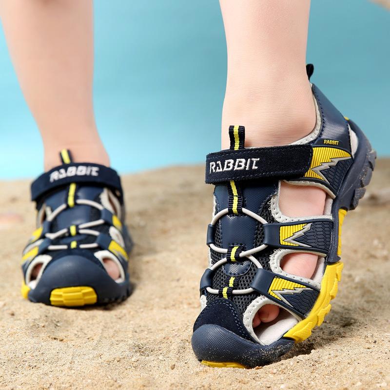 Cool 2016 summer boys beach sandals shoes toddler kids boy sandals children sports outdoor shoes blue brown boys hiking sandals