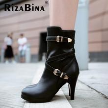 Envío gratis botines medio cortos mujeres moda de invierno la nieve calzado zapatos de tacón alto P14720 tamaño EUR 32-48(China (Mainland))
