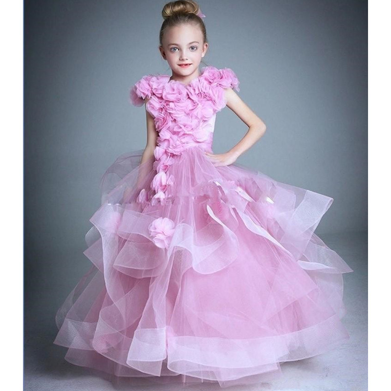 Hot Pink Flower Girl Dress 9 Years Olds Inexpensive