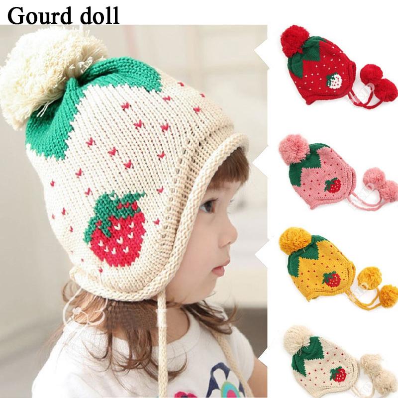 Вязание детям теплые шапочки