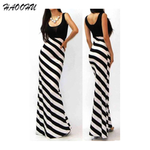 2015 Autumn Brand New Fashion Women dresses vestidos Sexy O-neck Black and White Striped Maxi long dress Party dresses 915 DX