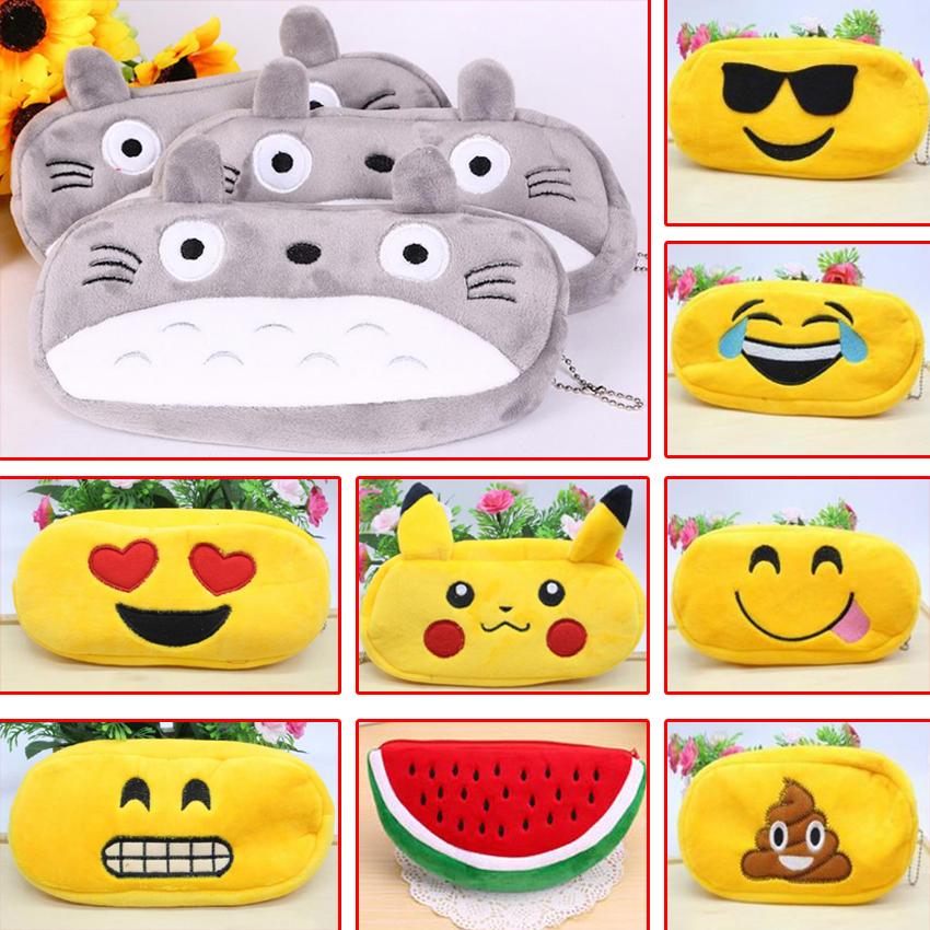 1pcs Kawaii Japan Totoro plush cartoon pen pencil case stationery Large pencil box School Supplie Stationery bag penalty 04819(China (Mainland))