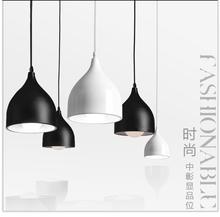 RU warehouse Modern Brief Pendant Light North European water-drop aluminum lamp bedroom lamp bar lighting black white red color(China (Mainland))