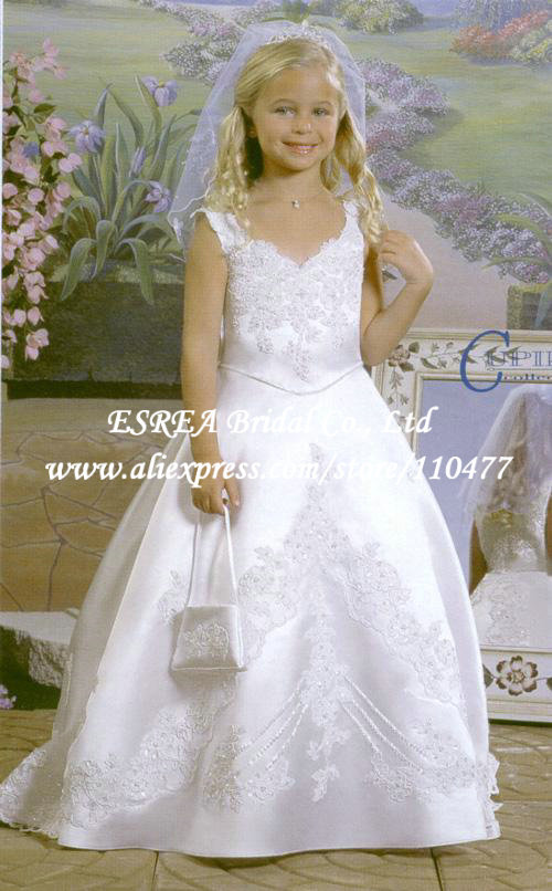 Western Style Embroidery Ball Gown Long Lace First ... - photo #44