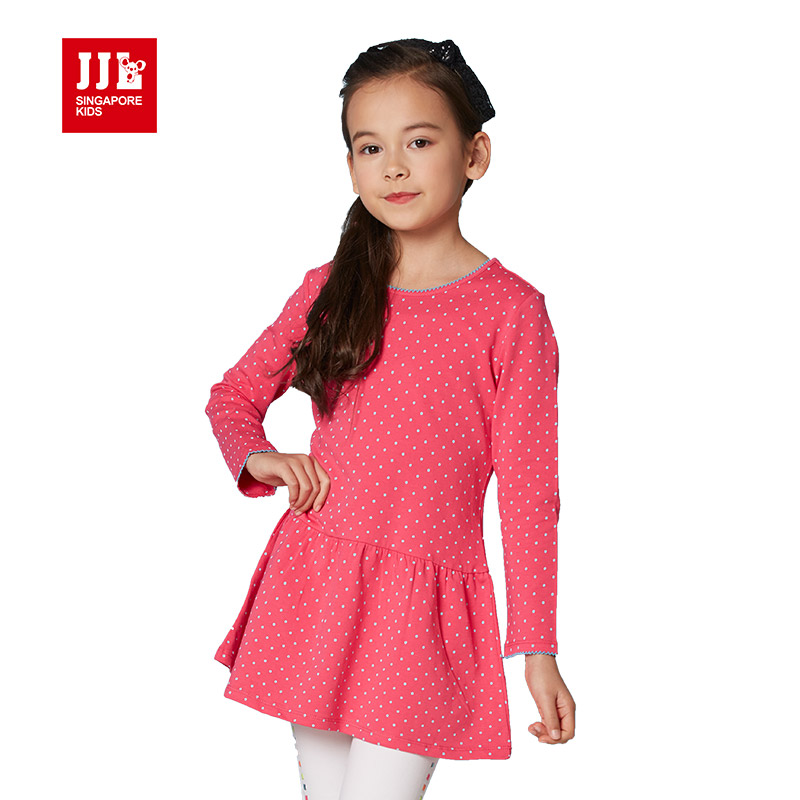 Girls dress 2016 designer brand dress girl polka dot kids Baby clothing designers