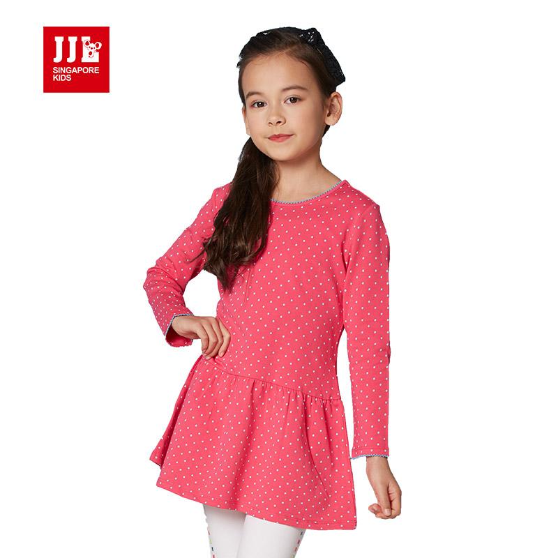 girls dress 2016 designer brand dress girl polka dot kids