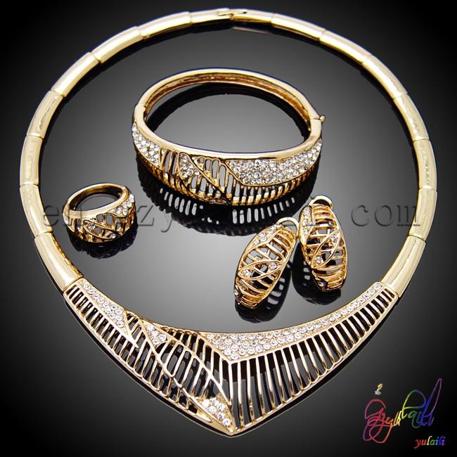Free shipping Italian gold jewelry sets costume jewelry set Arabic wedding jewelry sets(China (Mainland))