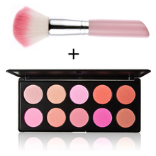2015 New Arrival New Pro 10 Color Contour Face Powder Makeup Concealer Blush Palette Brush F#OS