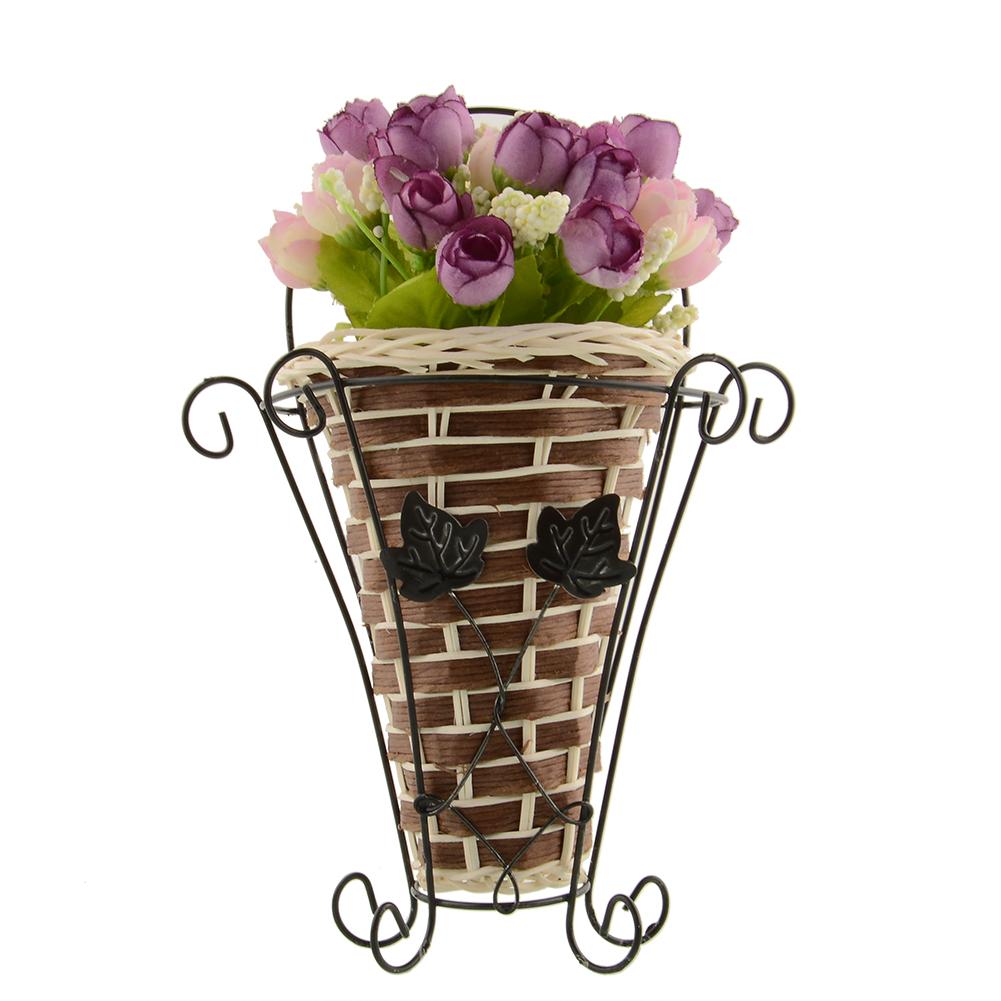 Hanging Flower Baskets Supplier : Aliexpress buy weave vine mural wall hanging
