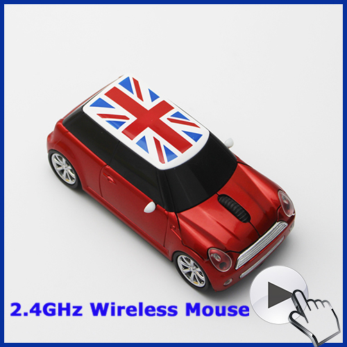 2015 New Uinion Jack Flag Mini PC Car Mouse Sem Fio USB 2.4Ghz Optical Wireless Mouse For Laptop Free Shipping(China (Mainland))