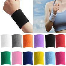 Fashion Unisex Cotton Sweat Band Sweatband Wristband Basketball Tennis Gym Yoga sport wristband wrist wraps Arm Band 1 PCS(China (Mainland))