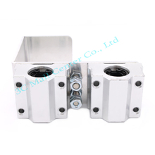 1 set 3D printer U aluminum block box type linear bearings Free Shipping