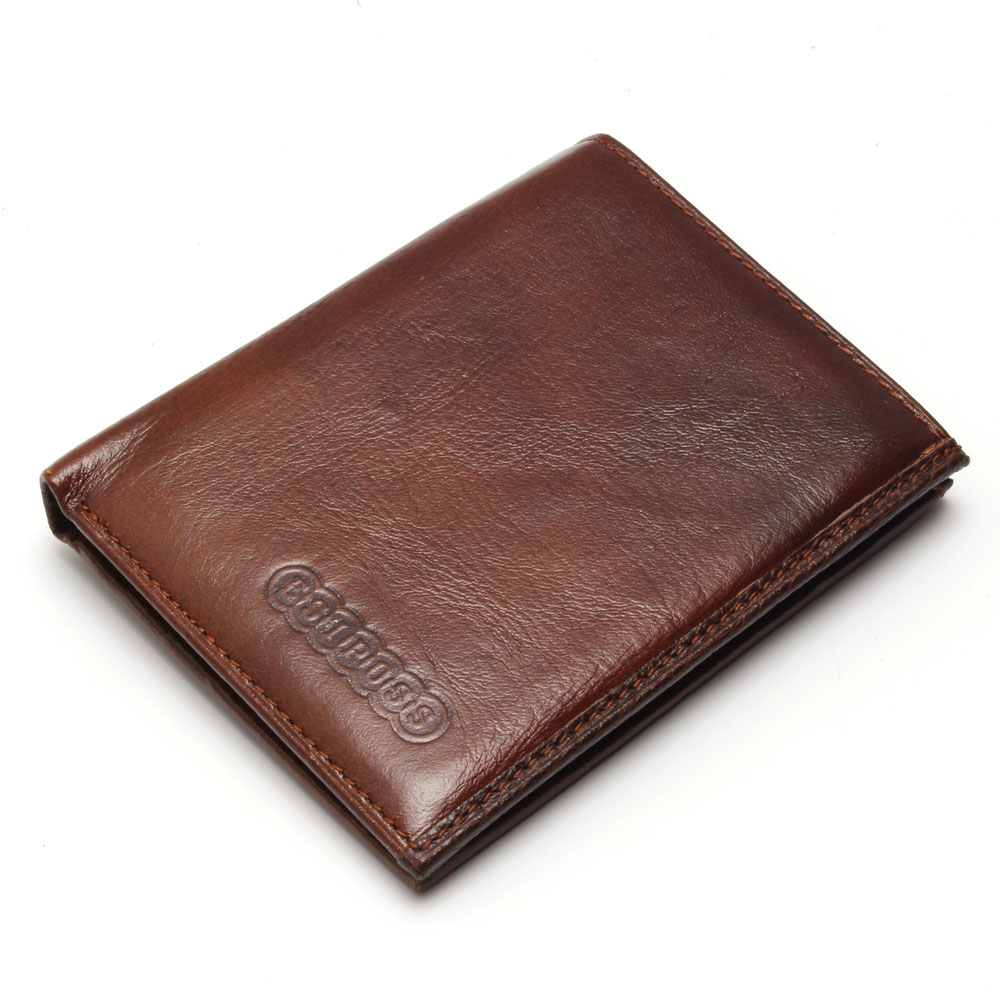 Hot! 2016 New Classical Vintage Style Men Wallets Genuine Leather Wallet Fashion Brand Purse Card Holder Wallet Man Coin Bag(China (Mainland))