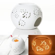 Quemador Incienso 2016 New Good Quality Japanese Incense Burner Ceramics Round Pierced White Oil Purify The Air Improve Free(China (Mainland))