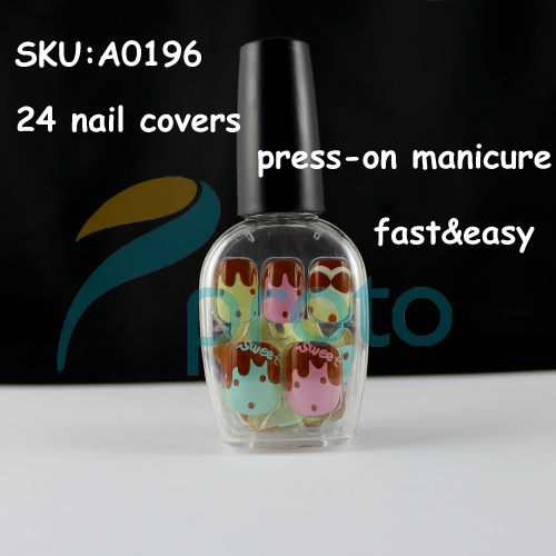 NEW Fashion 24 Nail Full Covers Press-On Manicure Perfect Gift Salon Manicure Nail Art - Sweet Dropship [Retail] SKU:A0196