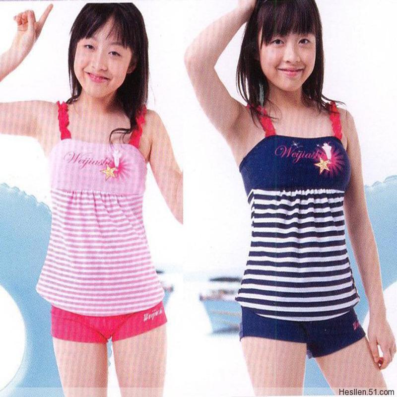 2013 child swimwear female big boy child swimwear split young girl swimwear<br><br>Aliexpress