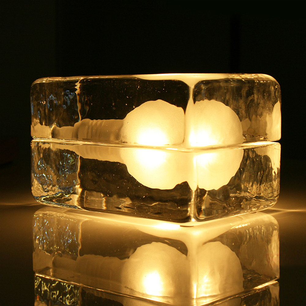 Modern ice glass table lamp lamparas de mesa lampe de - Table de chevet kartell ...