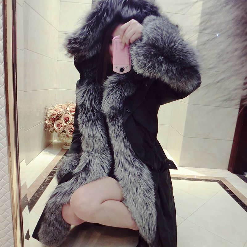 Natural Fox Furs Jackets Woman Real Fur Coat For Womens Genuine Fur Long Down Thicking Hooded Warmest OvercoatОдежда и ак�е��уары<br><br><br>Aliexpress