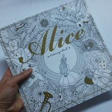 80 страниц алиса в стране чудес раскраски для взрослых детей снять стресс живопись рисунок секретный сад искусства окраска книга