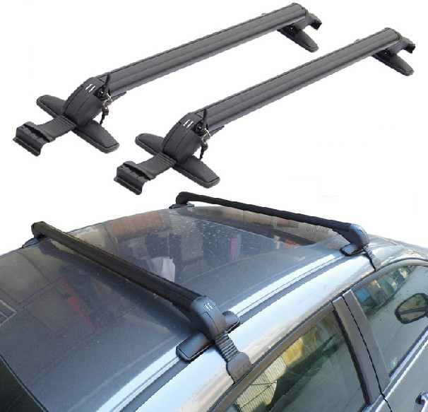 Sportage Roof Rack for Universal Cars Without Existing Side Rails Top Luggage Set Cargo Mount Cross Bar Racks Carrier With Lock(China (Mainland))