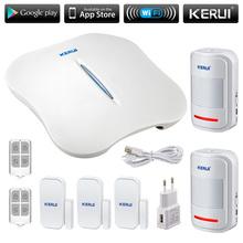 KERUI W1 WiFi Alarm System PSTN Home Burglar Alarm System More Convenient Portable mini alarm systems security home sensor alarm