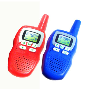 Hot sale electric toy Interphone toy Rechargeable handheld walkie-talkie children's toys intercom 3 km clickless real dialogue(China (Mainland))