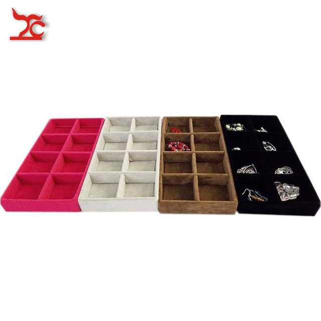 Buy retail portable jewelry store case for Velvet jewelry organizer trays