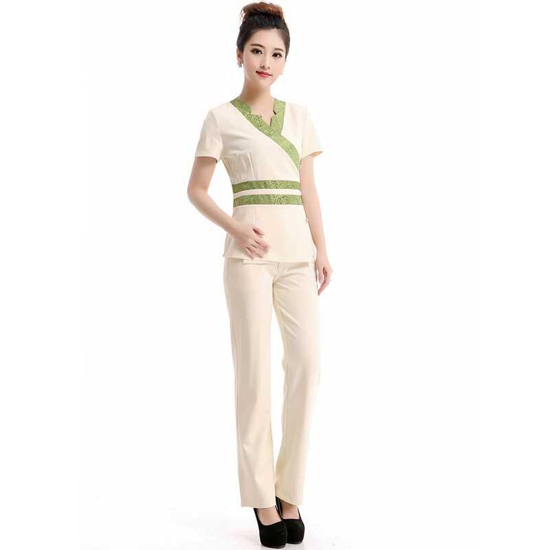 Popular spa uniform buy cheap spa uniform lots from china for Spa uniform cotton