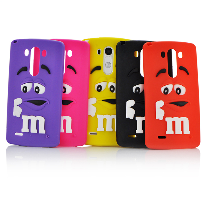 Fashion Cases For LG G3 Case Silicone M&M'S Chocolate Character Soft Phone Cases Cover For LG G3 Phone cases 40F(China (Mainland))