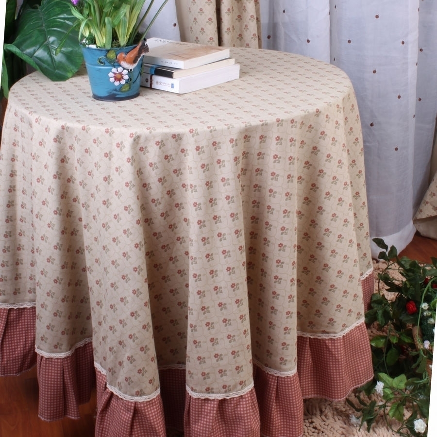 Oriental traditional cloth American country round tablecloths Pink tablecloths diameter 125/180cm Hotel / Restaurant / Home(China (Mainland))