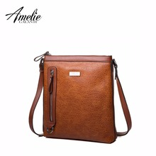 AMELIE GALANTI 2017 women crossbody bags high quality PU shoulder bag versatile casual zipper flap 4 colors famous brand(China (Mainland))