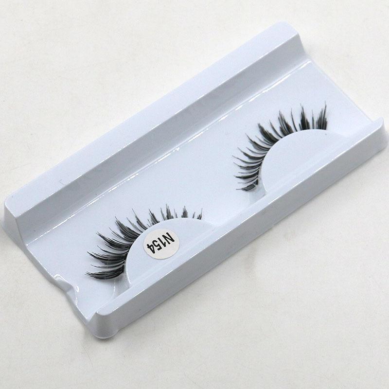 Factory direct simulation handmade natural bare makeup Dolly Lashes eyelash eyelashes transparent stems manual(China (Mainland))