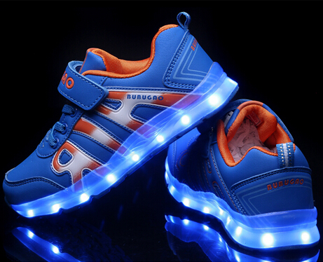 NEW Children run kids LED UBS charging Sports shoes zapatos chaussure lumineuse enfant boys girls shining sneakers with light(China (Mainland))
