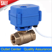 """Brand New 1/2"""" DN15 DC12V Motorized Ball Valve , Brass Electric Ball Valve, CR-05 5 Wire Control With Positive FeedBack(China (Mainland))"""