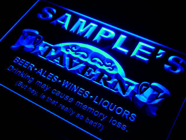 Man Cave Light Up Signs : Px tm name personalized custom tavern man cave bar beer