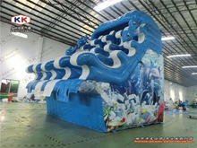 Outdoor Frame Pool Wave Inflatable Water Slide For Summer Resort Game(China (Mainland))