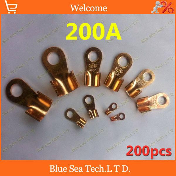 200 шт/много 10.2 мм ВЗ-200А медный плоский штекер,200А клеммы аккумулятора для автомобиля e-велосипед и т. д. Большой ток клемма заземления