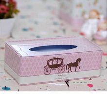 Buy Middle size tinplate paper tissue box carriage ice tea tin crafts creative paper towel box European paper box car tissue box for $12.82 in AliExpress store