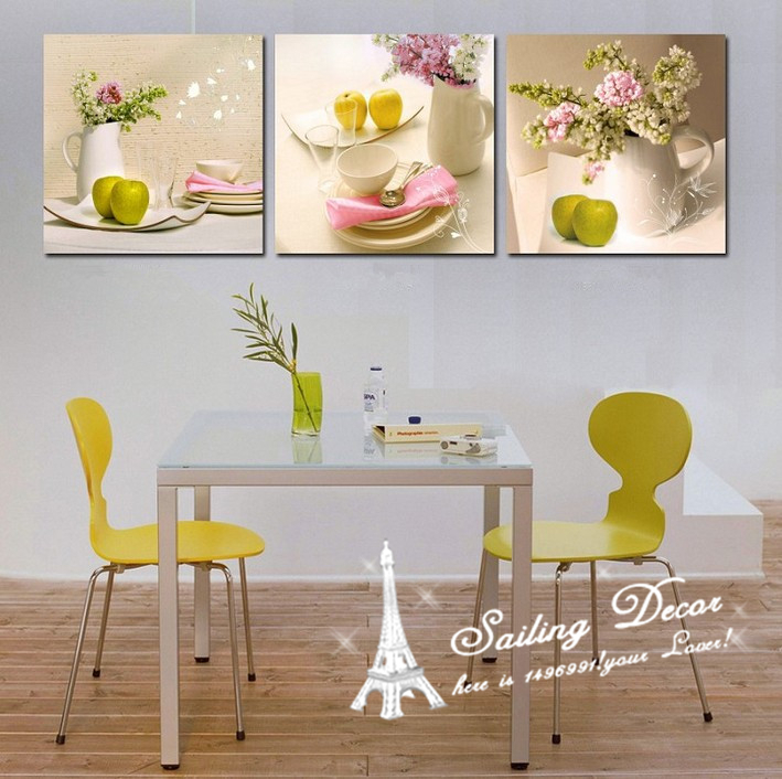 Buy canvas prints decoration painting on for Apple home decoration