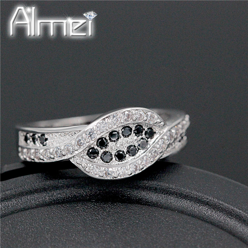Aliexpress Buy Engagement Rings Women Vintage Black and White Crystal S