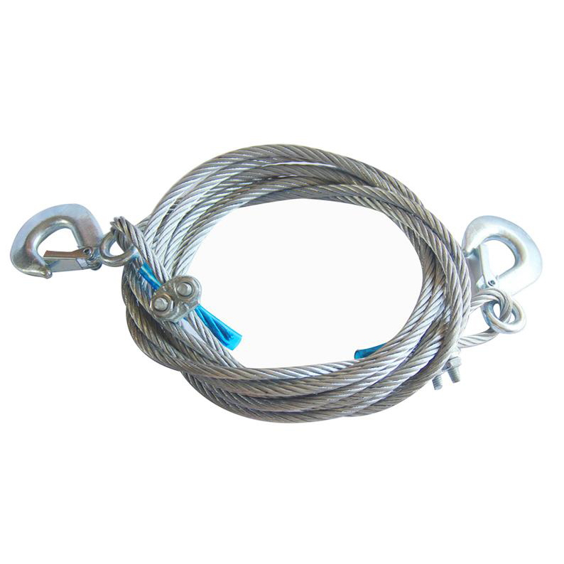 5T 8MM*4M Tow Rope Heavy Duty Towing Car Truck Strap Rope with Hooks Steel(China (Mainland))