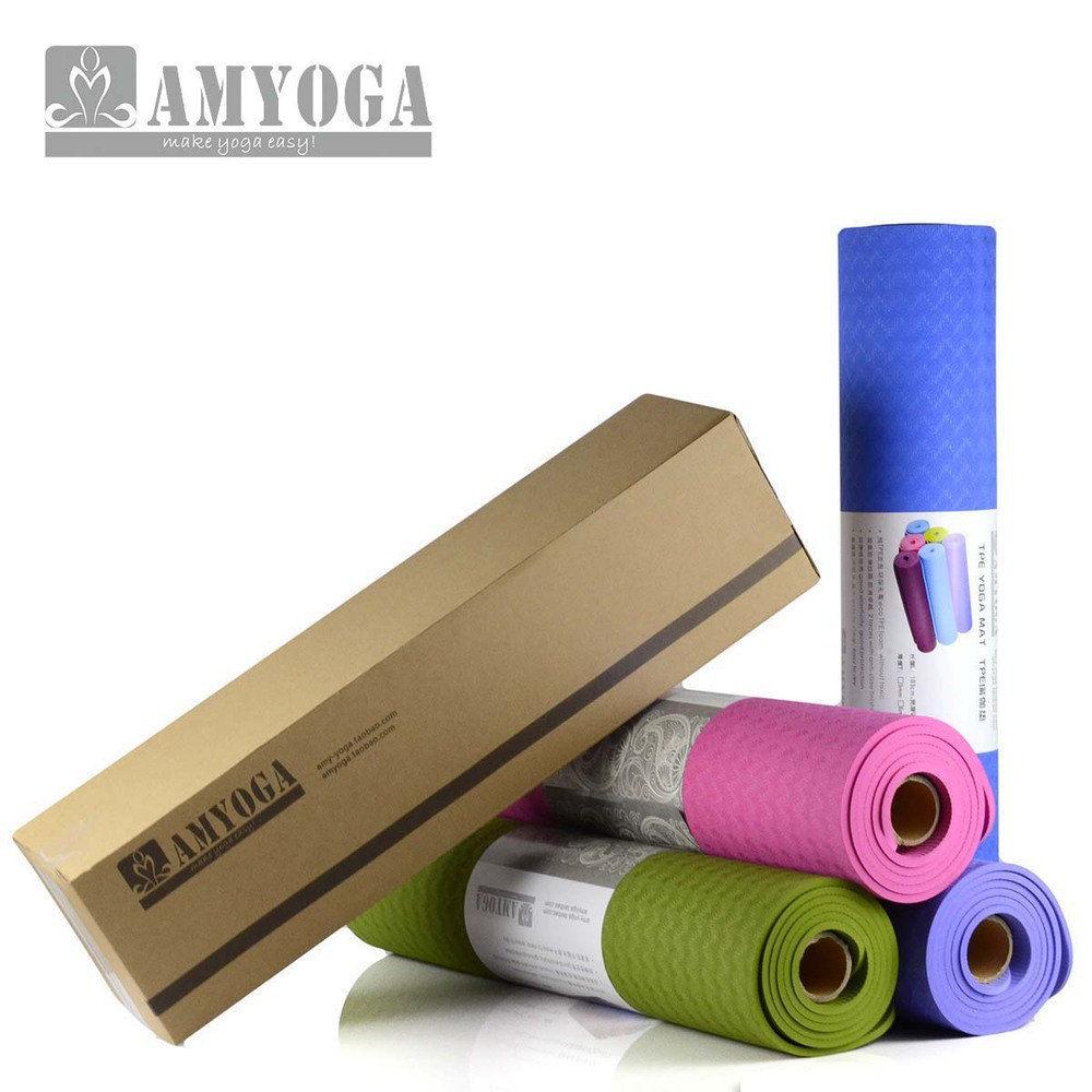 eco-friendly anti slip TPE Yoga Mat,wtih sling and carry bag free shipping(China (Mainland))